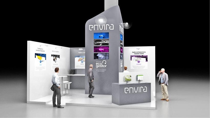 Diseño de stand Envira para feria Sicur 2018-Madrid 0