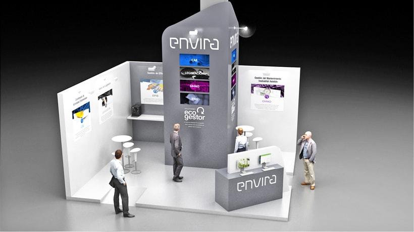 Diseño de stand Envira para feria Sicur 2018-Madrid 1