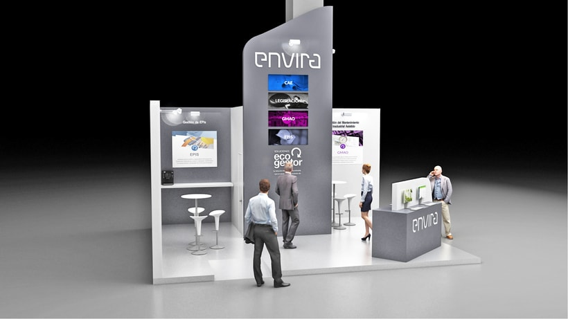Diseño de stand Envira para feria Sicur 2018-Madrid 2