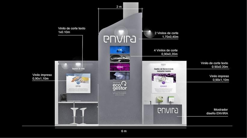 Diseño de stand Envira para feria Sicur 2018-Madrid 3