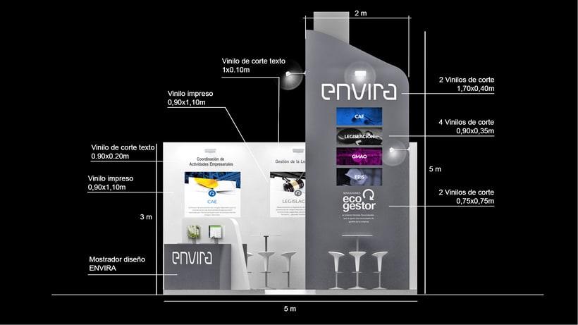 Diseño de stand Envira para feria Sicur 2018-Madrid 4