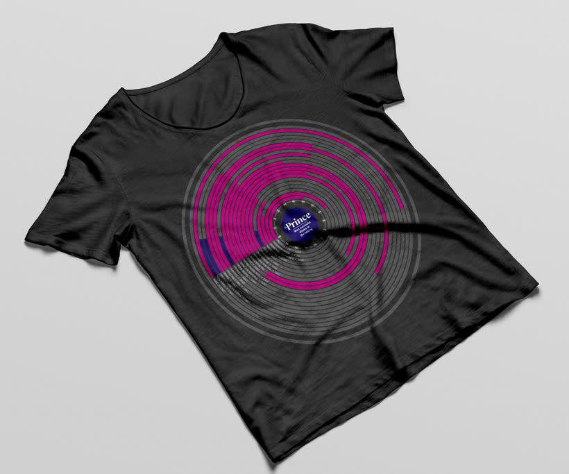 Camisetas con infografías de músicos 1