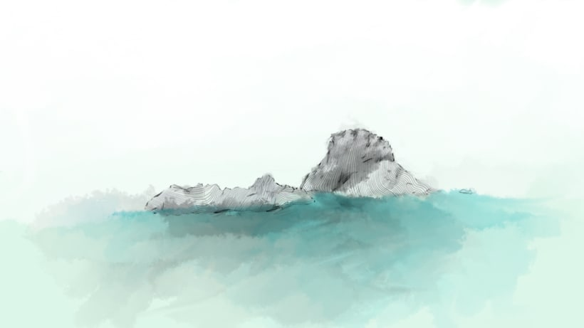 Es Vedra Island Illustration 0