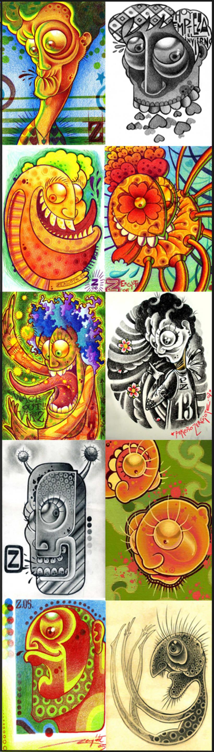 MONIGOTES, 2005-2006, lapices de colores. 0