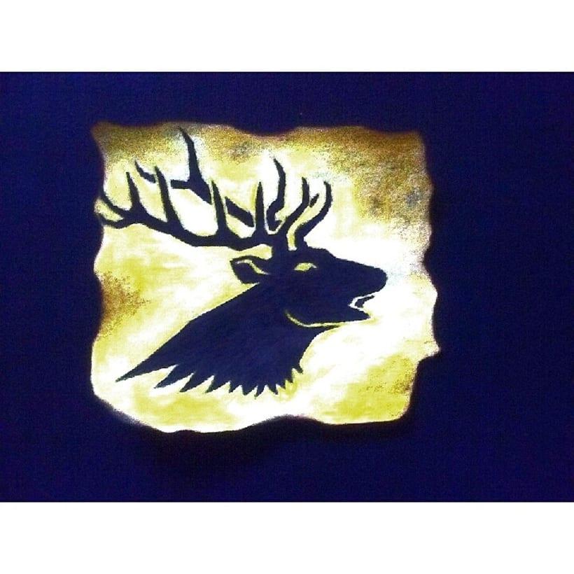 Pequeño art del emblema Baratheon -1