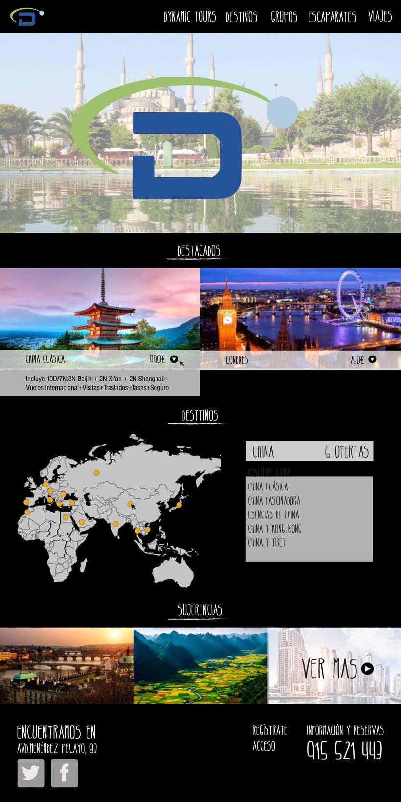 Rediseño web y oferta de viaje / Agencia de viajes 0