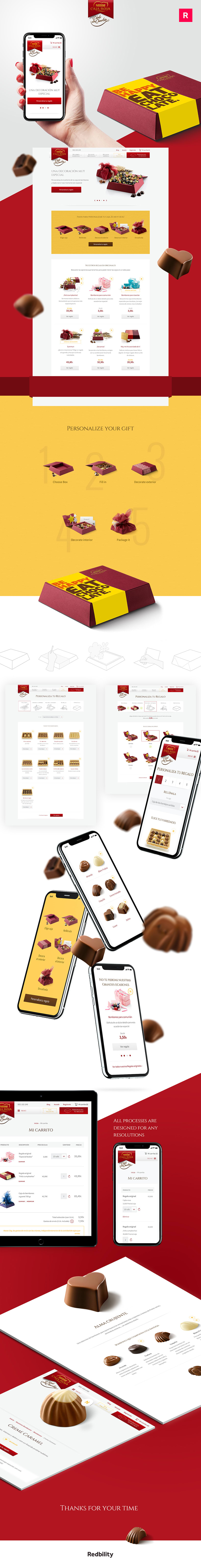 Nestlé. Díselo con Chocolate. Responsive website 0