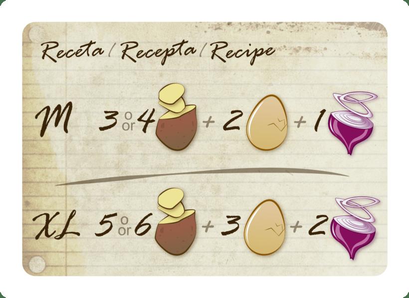 Tortilla de patatas: the game-diseño-ilustración y maquetación-juego de mesa 2