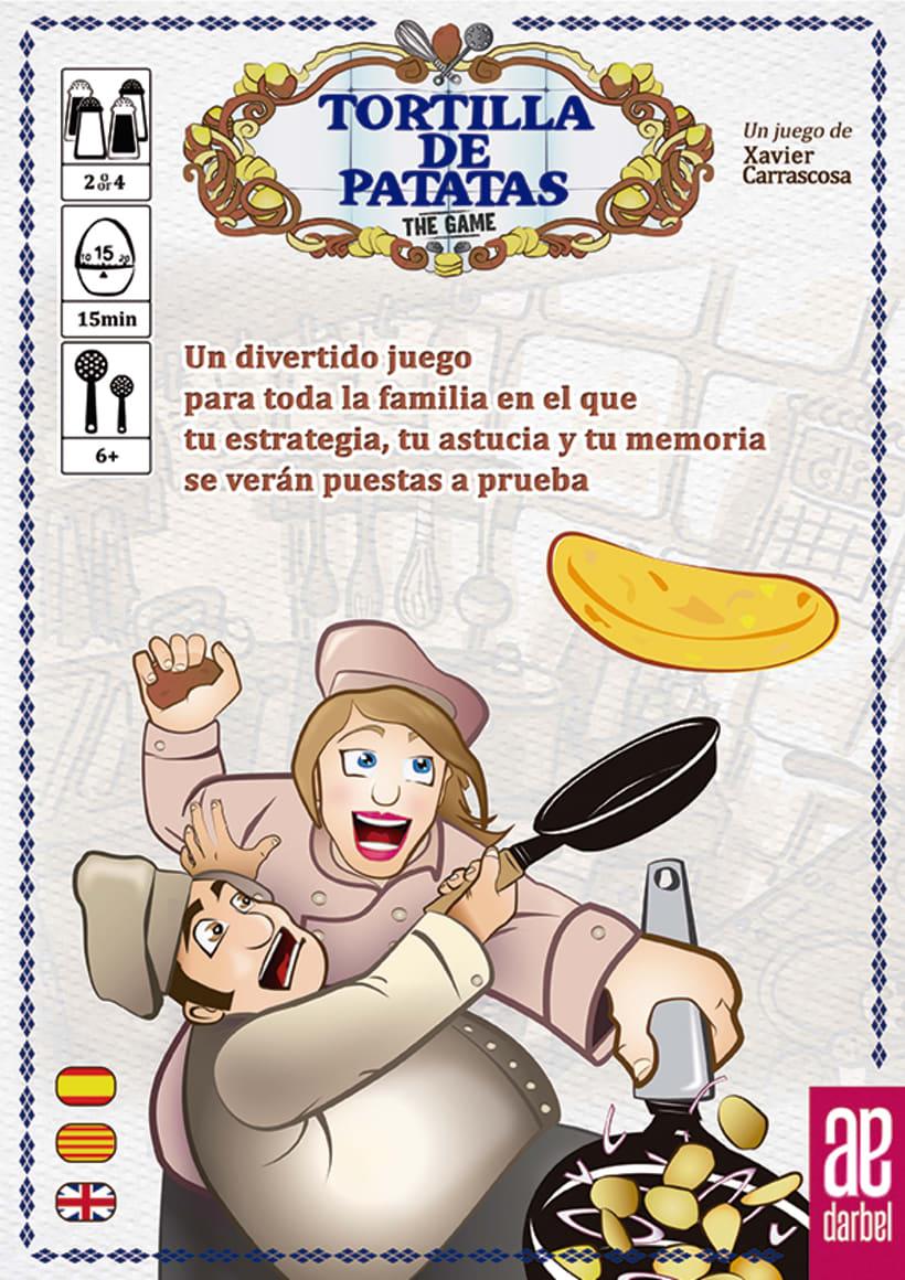 Tortilla de patatas: the game-diseño-ilustración y maquetación-juego de mesa 3