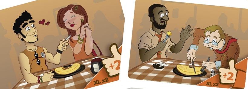Tortilla de patatas: the game-diseño-ilustración y maquetación-juego de mesa 6