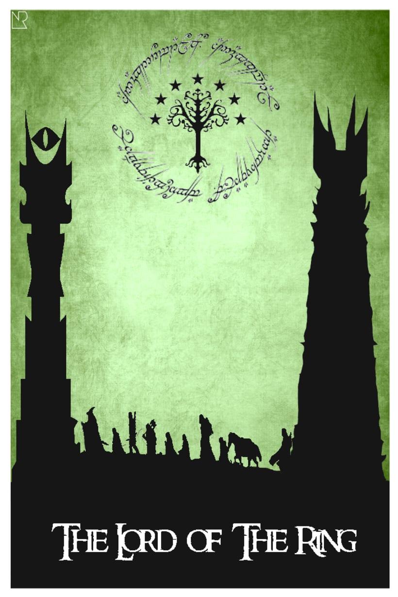 Poster El señor de los anillos -1