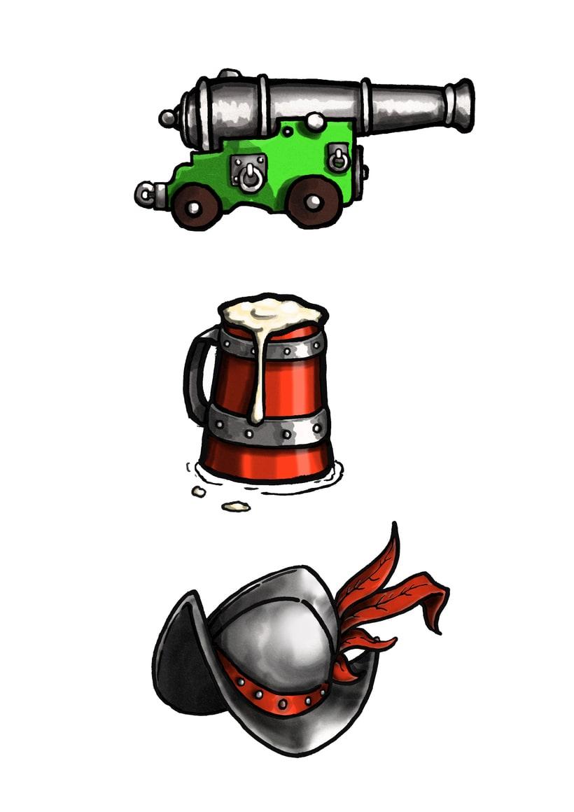 Posavasos 1.5-Ilustración, diseño, maquetación - Posavasos/juego 4