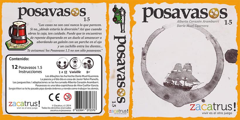 Posavasos 1.5-Ilustración, diseño, maquetación - Posavasos/juego 7