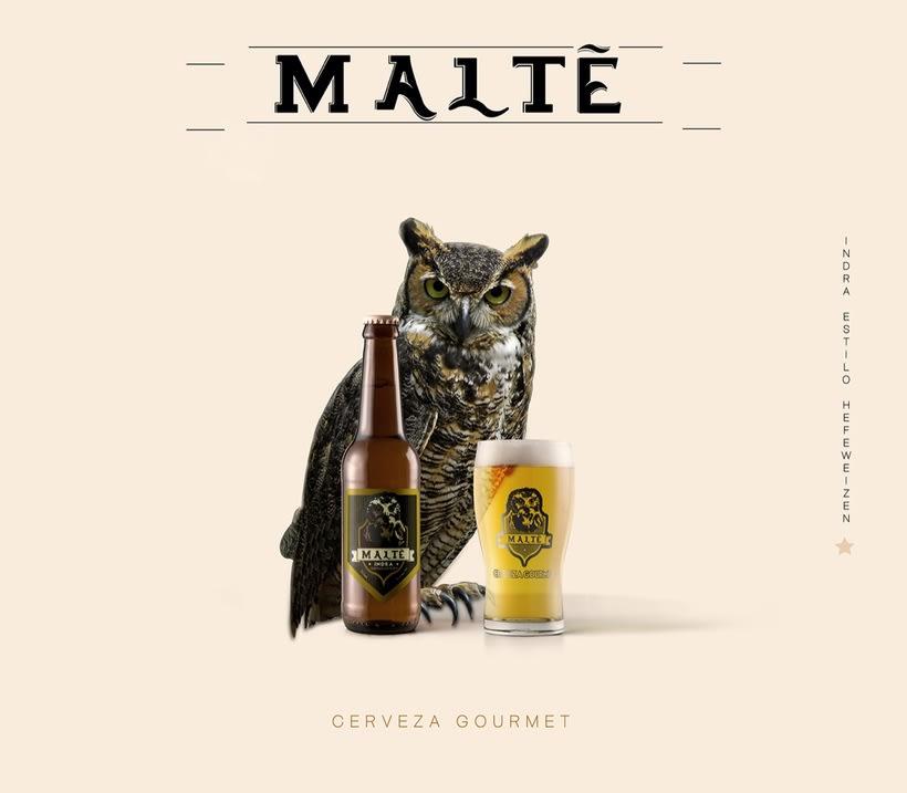 MALTÉ cerveza Gourmet (Branding/Packaging) 0