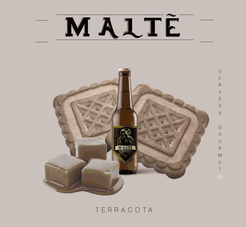 MALTÉ cerveza Gourmet (Branding/Packaging) 1
