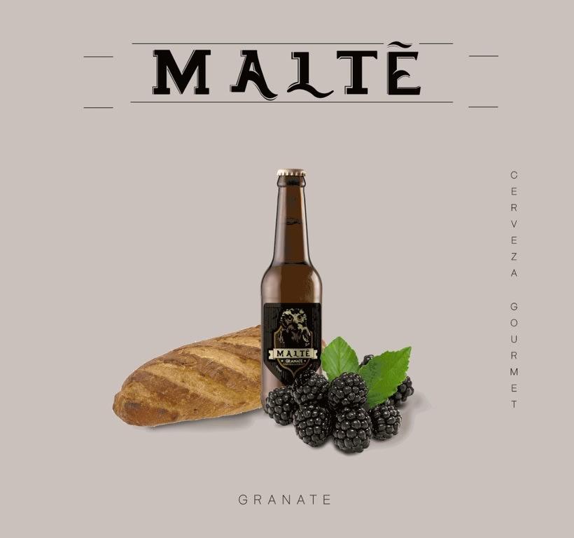 MALTÉ cerveza Gourmet (Branding/Packaging) 2