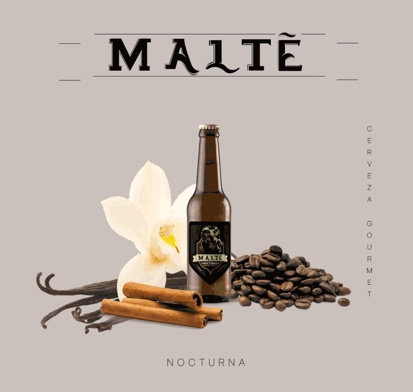 MALTÉ cerveza Gourmet (Branding/Packaging) 3