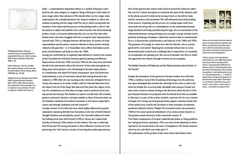 MARIA LASSNIG. Obras, diarios y escritos.  2