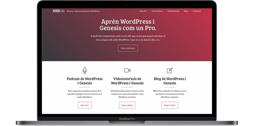 Diseño y desarrollo WordPress para Jordi Garcia Codina | Jordi Garcia Codina 0