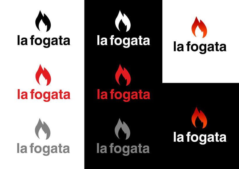 La Fogata: Identidad corporativa bi y tridimensional 1