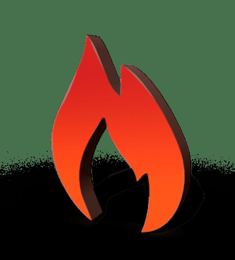La Fogata: Identidad corporativa bi y tridimensional 5