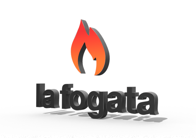 La Fogata: Identidad corporativa bi y tridimensional 4