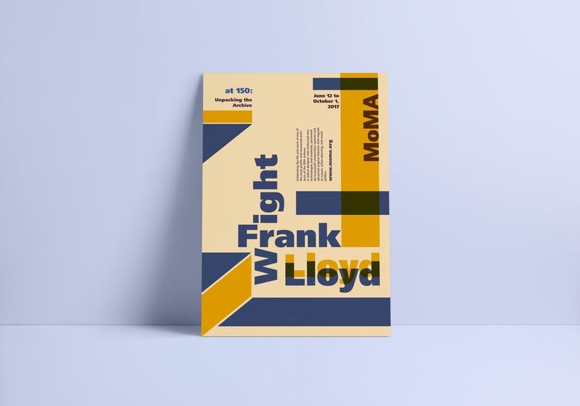 Proyecto de póster para la exposición de Frank Lloyd Wright del MoMA 4