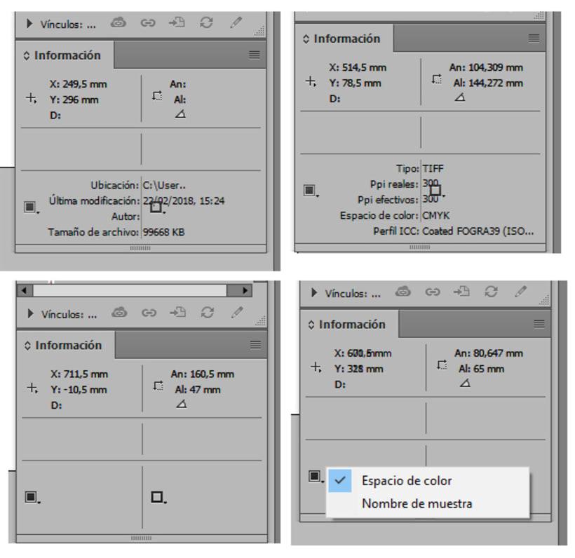 InDesign: anomalía en el panel Información 1