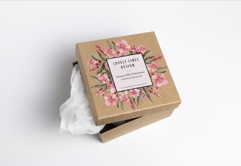 Packaging para una marca de ropa interior de diseño 2