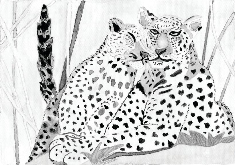 Mama leoparda y leopardito mimoson -1