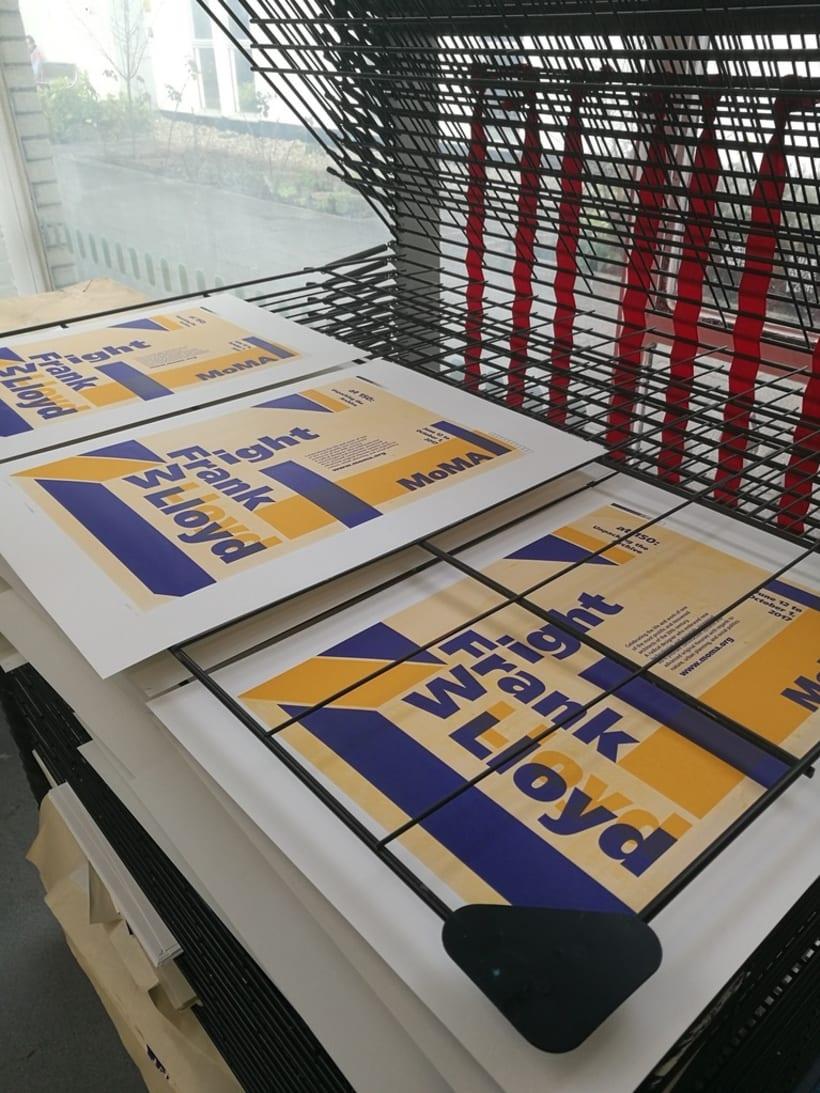 Proyecto de póster para la exposición de Frank Lloyd Wright del MoMA 0
