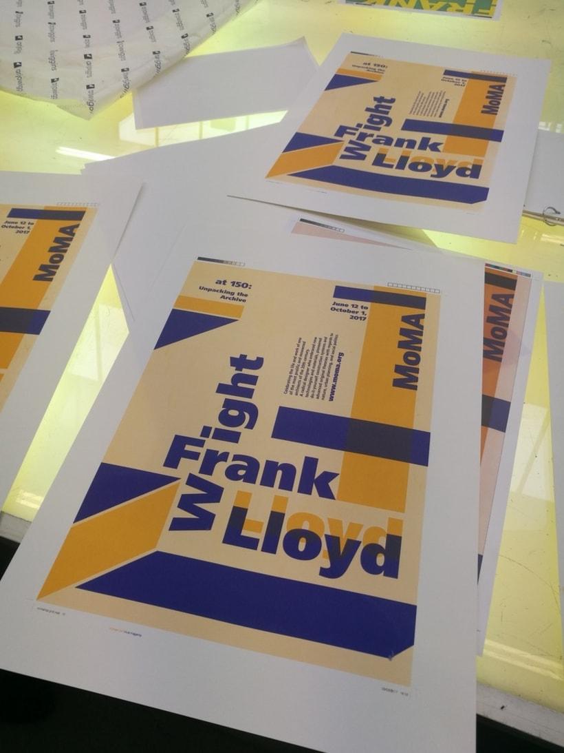 Proyecto de póster para la exposición de Frank Lloyd Wright del MoMA 2