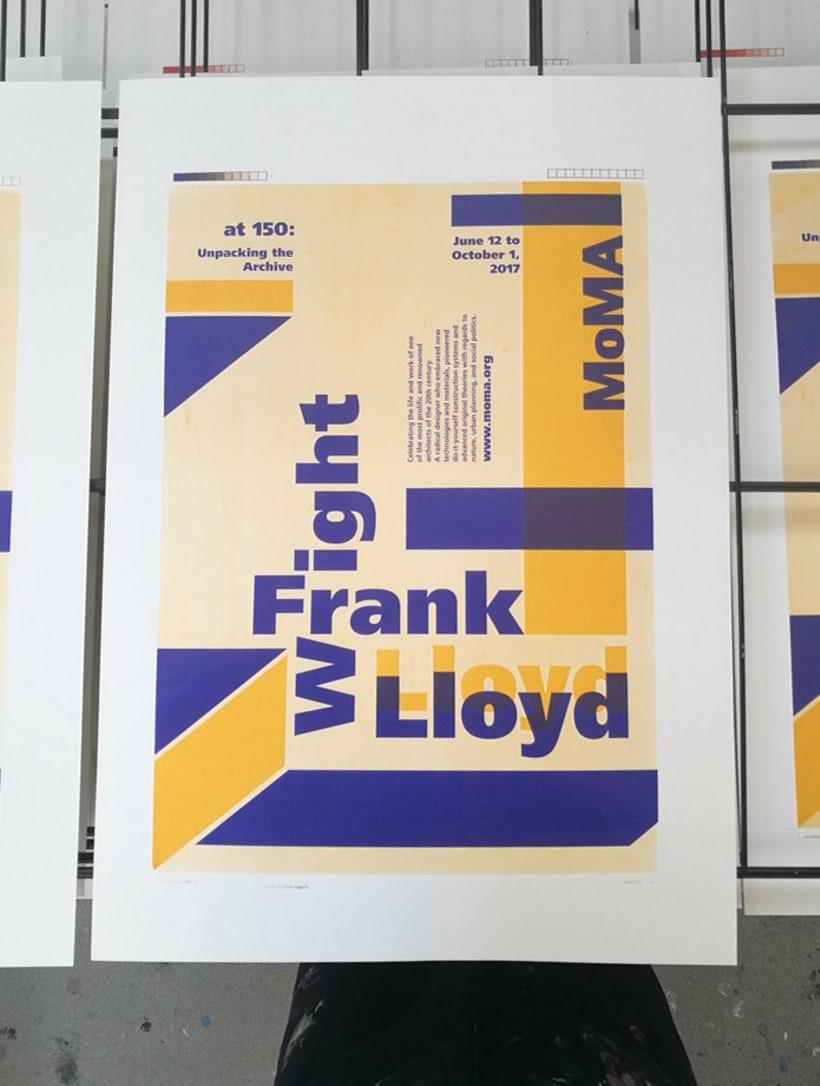 Proyecto de póster para la exposición de Frank Lloyd Wright del MoMA 3