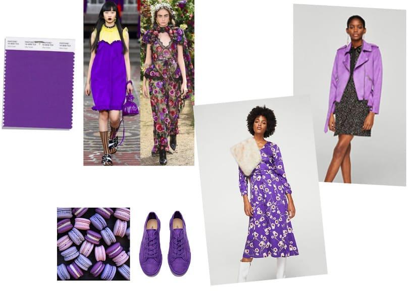 "OI18 Color tendencia; Pantone ""Ultra Violet"" 2"