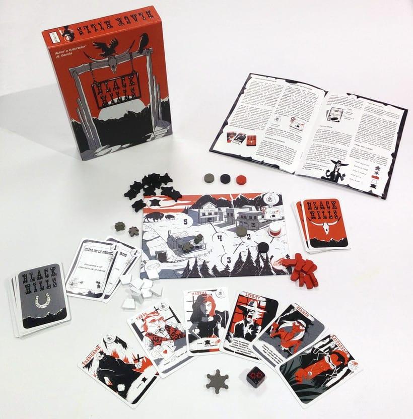 Black Hills - Diseño - Maquetación - juego de mesa 1