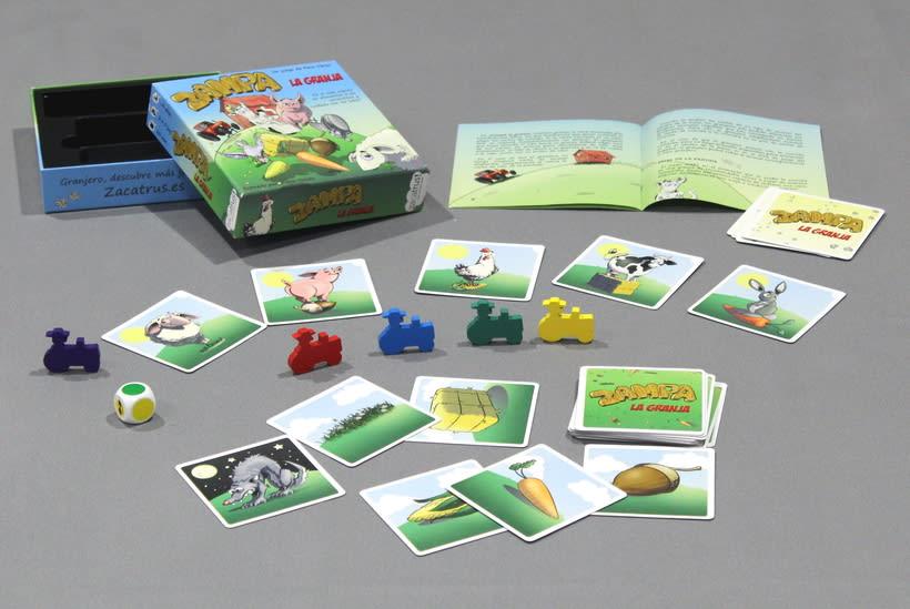 Zampa la granja -diseño gráfico y maquetación- juego de mesa 1