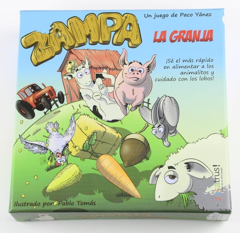 Zampa la granja -diseño gráfico y maquetación- juego de mesa 2
