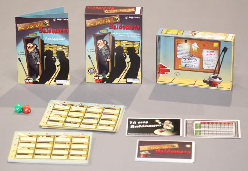 El portero Baldomero - diseño - maquetación - juego de mesa 1