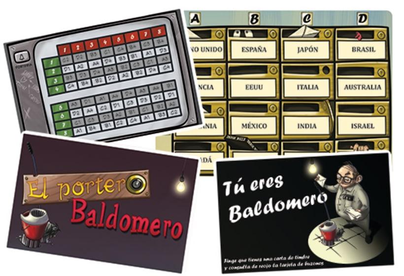 El portero Baldomero - diseño - maquetación - juego de mesa 2