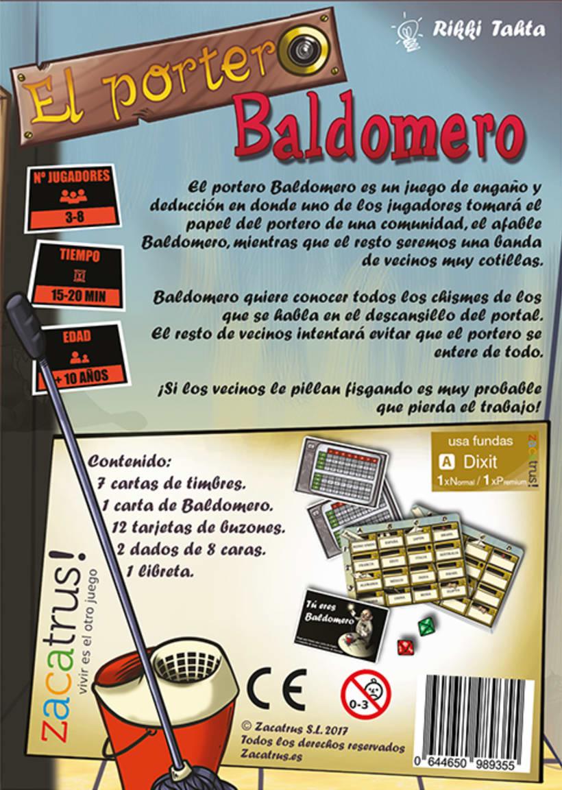 El portero Baldomero - diseño - maquetación - juego de mesa 4