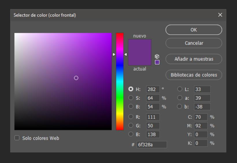 Tengo una duda con CMYK en photoshop y adobe color  1