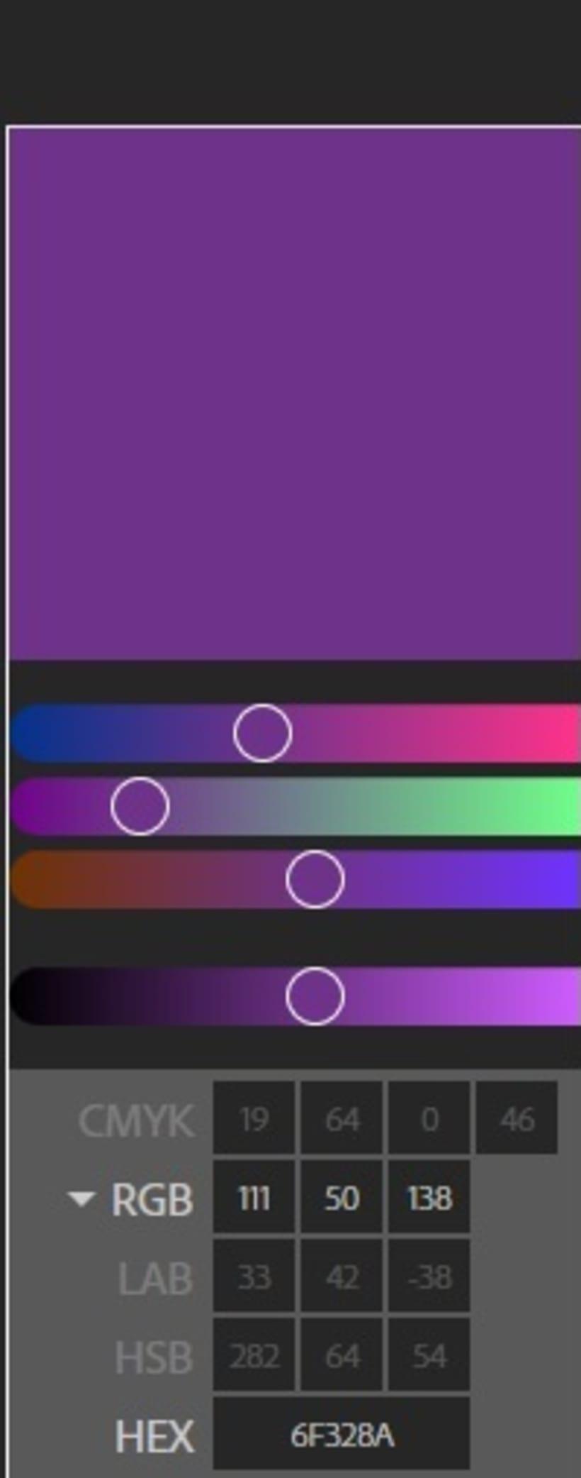 Tengo una duda con CMYK en photoshop y adobe color  3