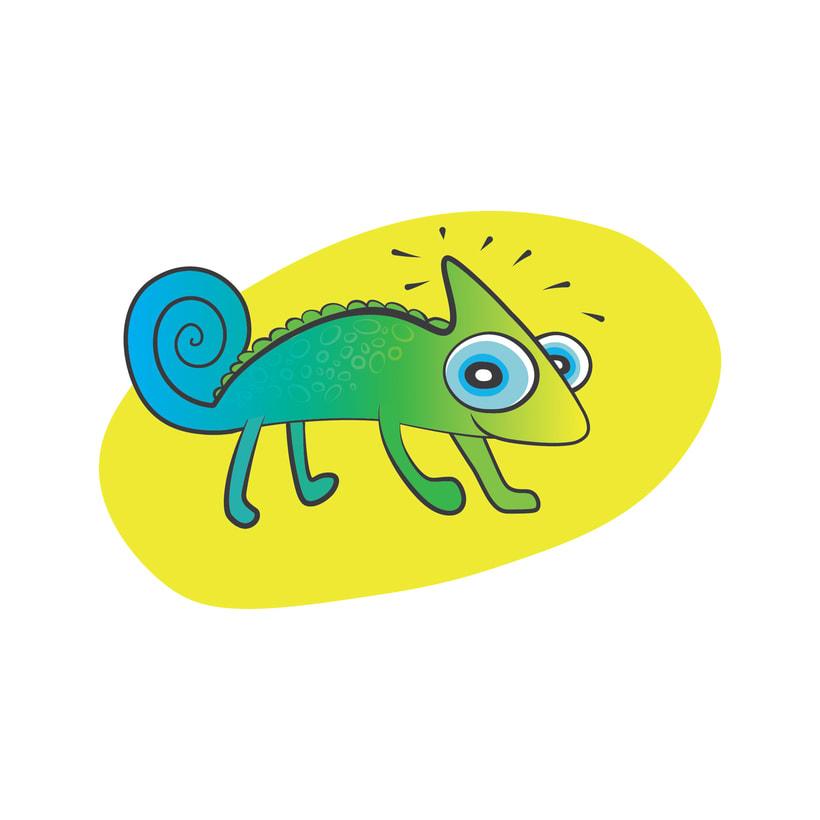 El camaleón (ilustración) 0