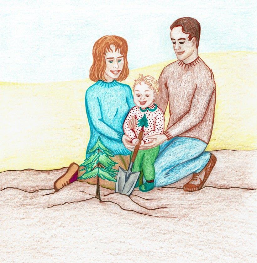 Ilustración de un cuento: L'Avet Màgic 1