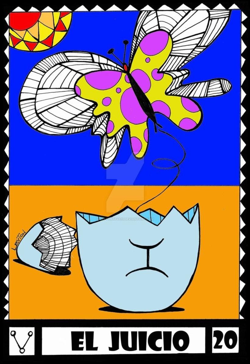 Leyton Tarot. Arcanos Mayores. 9