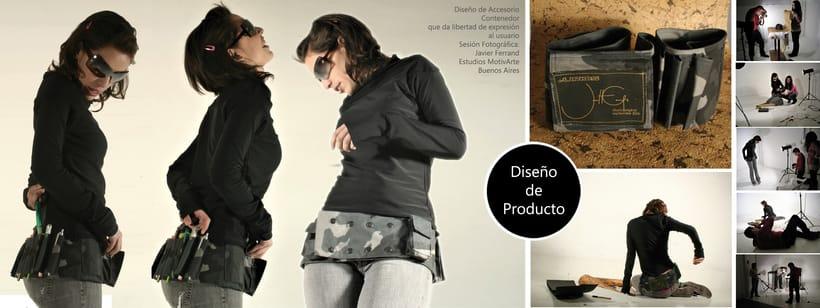 Contenedor manos libres de Mujer, Diseño de Accesorio. -1