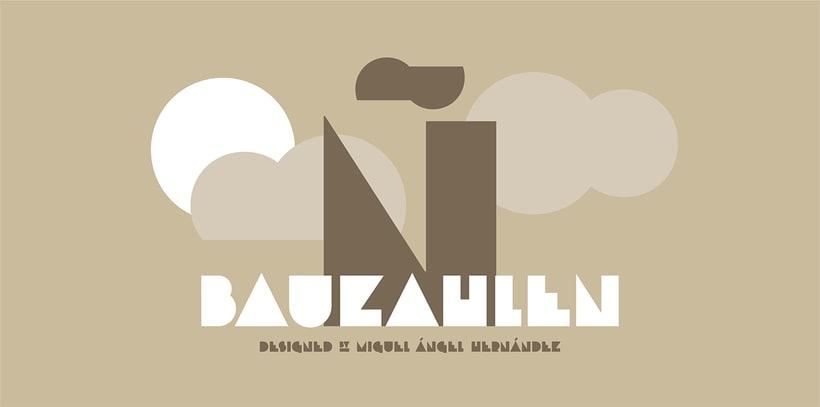 Bauzahlen, mi primera tipografía. 1