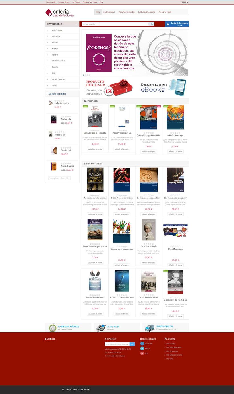 Rediseño de tienda virtual Criteria Club de Lectores 2