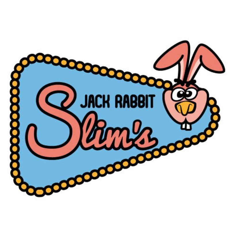 Mi Proyecto del curso: Tipografía y Branding: Logotipo Jack Rabbit Slim's -1