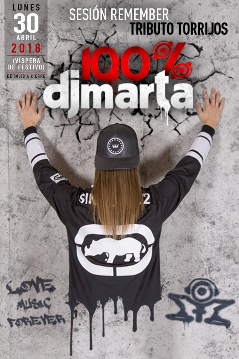 Imagen Fiesta 100% Dj Marta 2018  -1